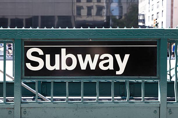 new york city subway sign - subway foto e immagini stock