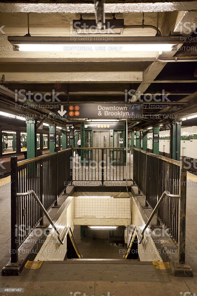New York City subway station stock photo