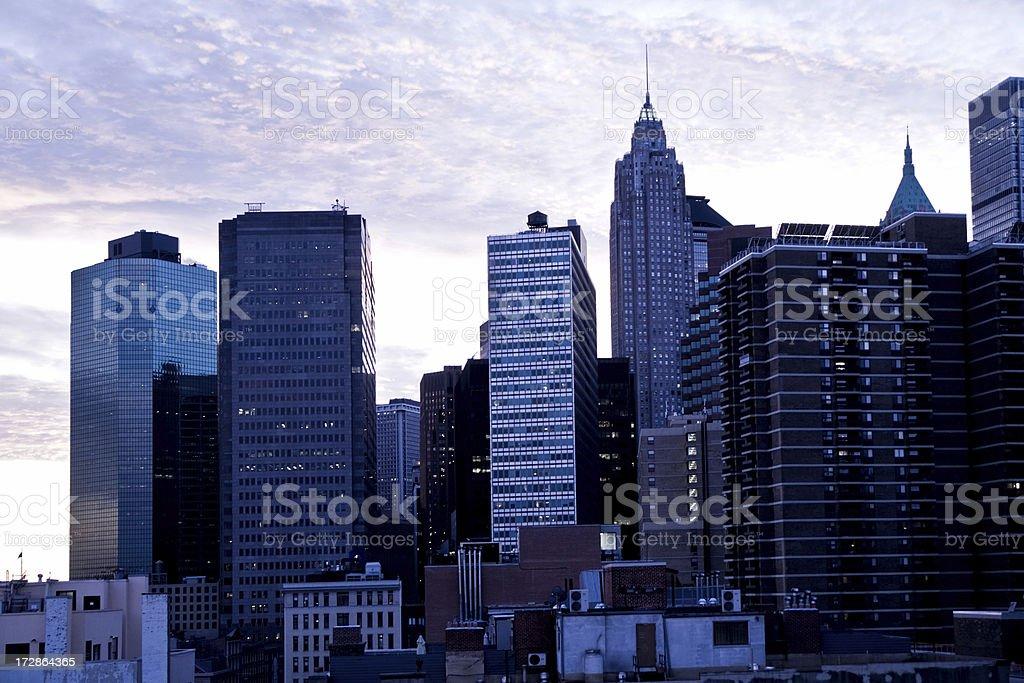New York City bei Sonnenuntergang – Foto
