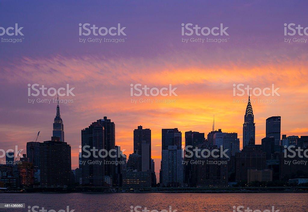 New York City Sunset stock photo