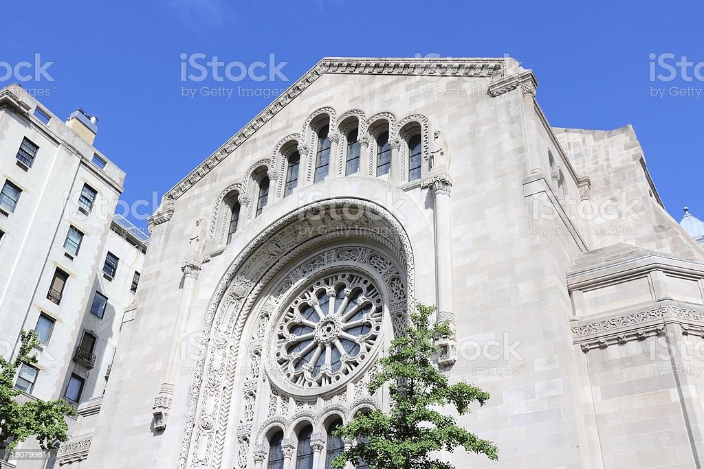 New York City synagogue royalty-free stock photo