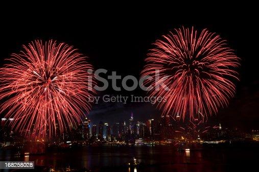 istock New York City Syncronized Fireworks 168258028