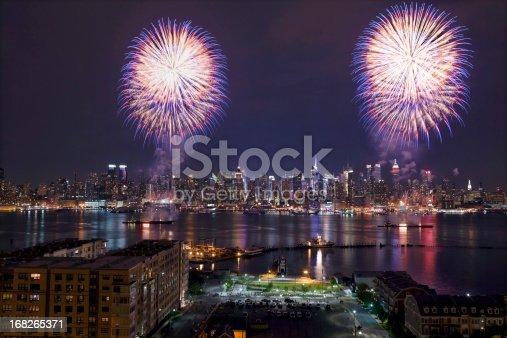 istock New York City Syncronized Fireworks 168265371
