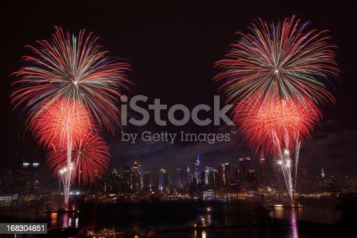 istock New York City Syncronized Fireworks 168304651