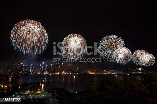 istock New York City Syncronized Fireworks 186824722