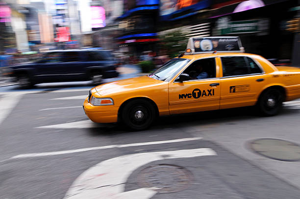 New York City Taxi nat Times Square stock photo