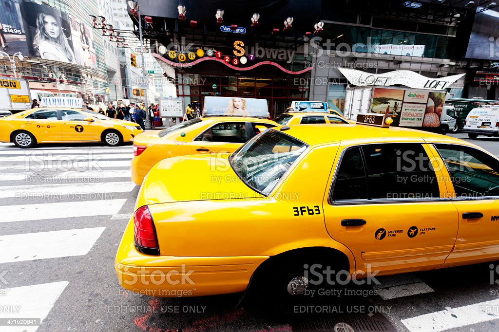 New York City, taxis stock photo