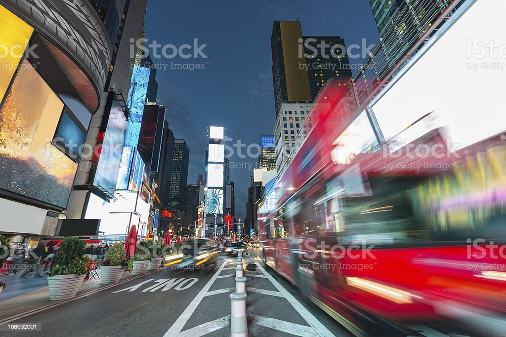 New York City Times Square at Night stock photo