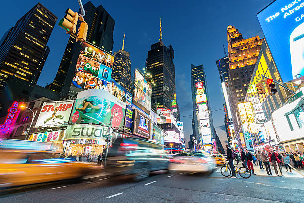 new york city times square - times square stock photos and pictures