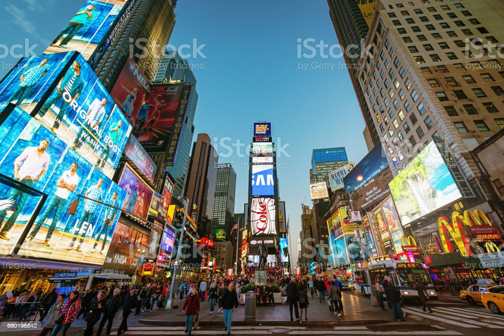 New York City Times Square - foto de acervo