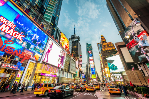 New York City Times Square Traffic Stock Photo - Download Image Now