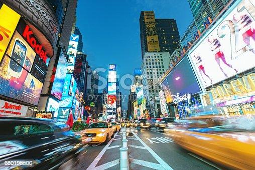 istock New York City Times Square Yellow Cab Traffic 680198500