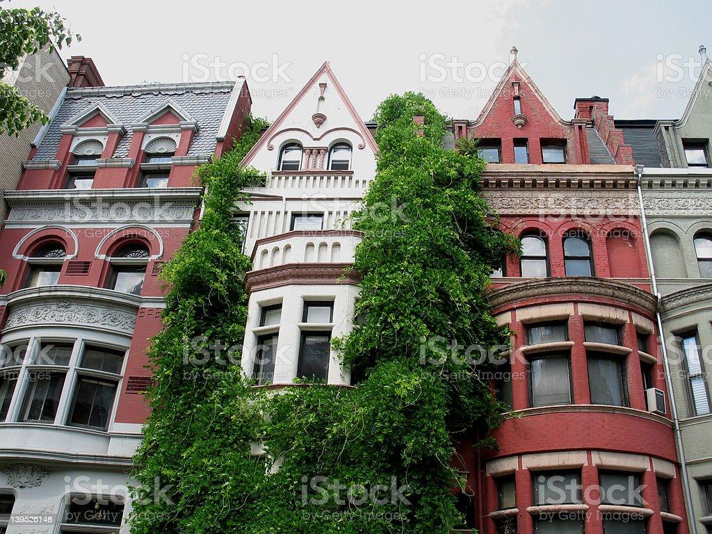 New York City townhouses royalty-free stock photo