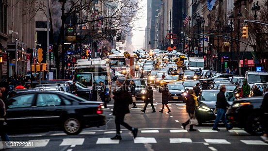 New York traffic, USA