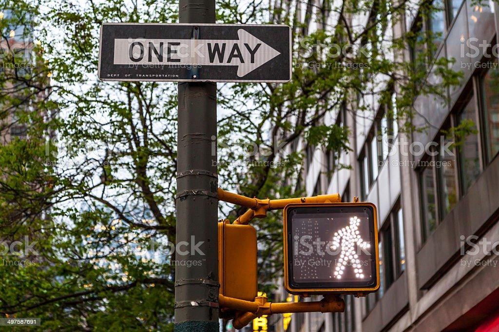 New York city traffic sign royalty-free stock photo
