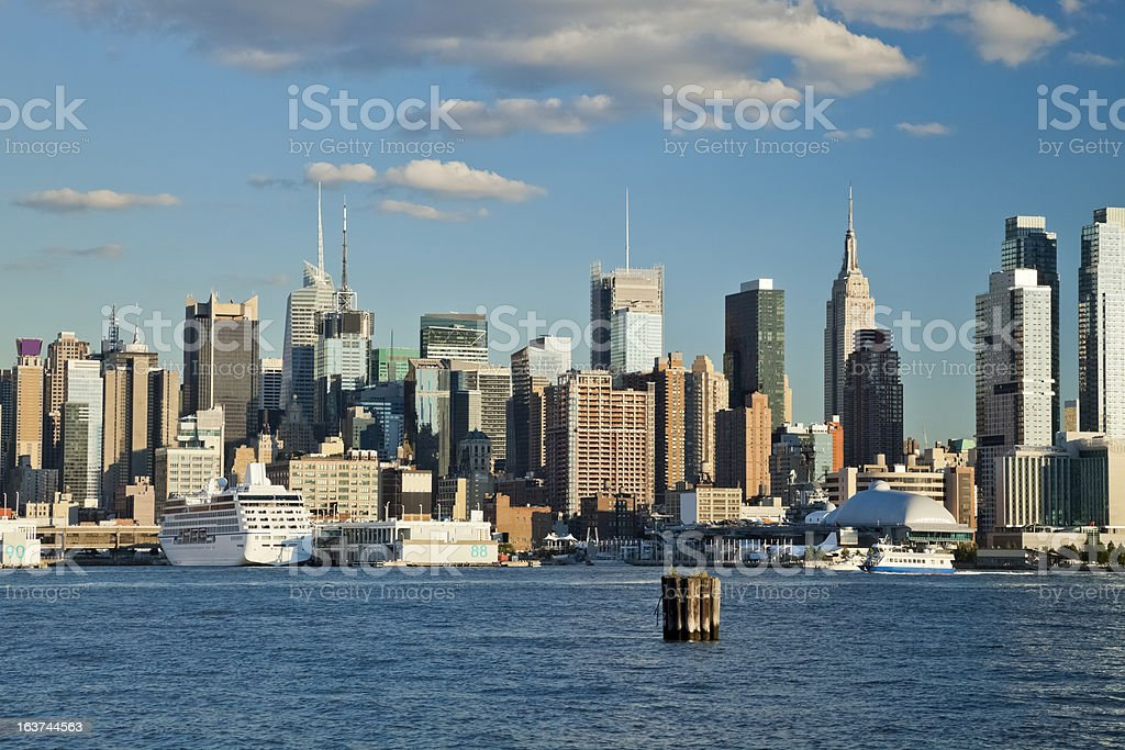 New York City Uptown skyline at the afternoon royalty-free stock photo