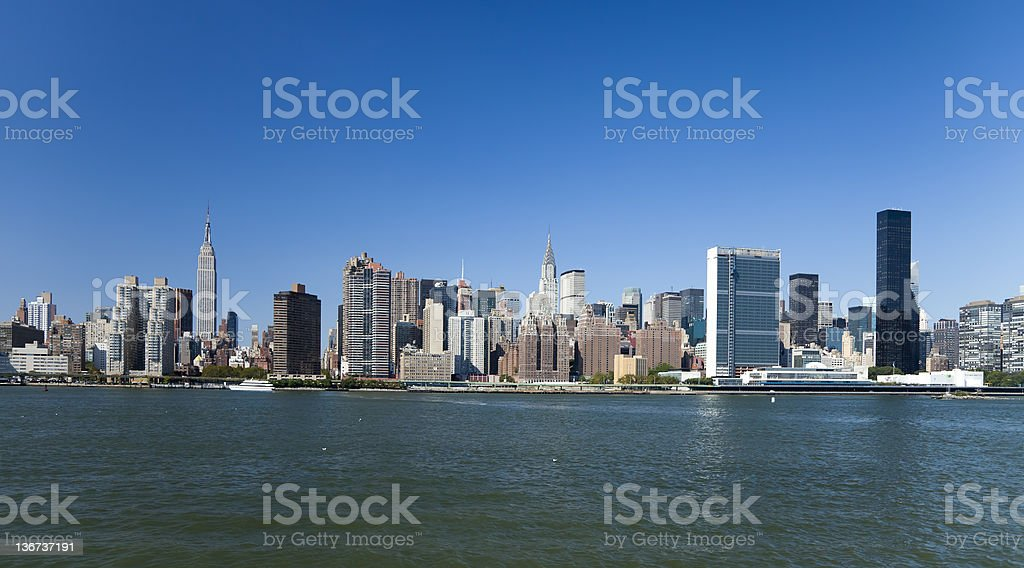 New York City Uptown skyline royalty-free stock photo