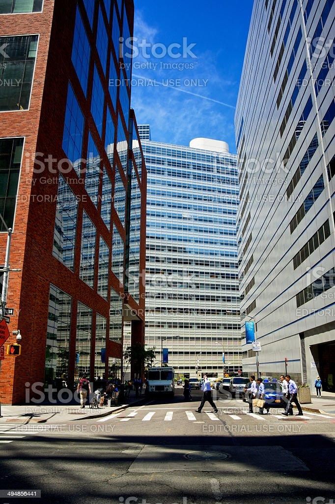New York City Urban Density, Lower Manhattan Office Buildings royalty-free stock photo