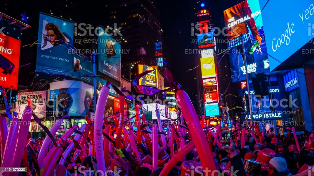 New York City Usa December 31 2014 Crowded Times Square