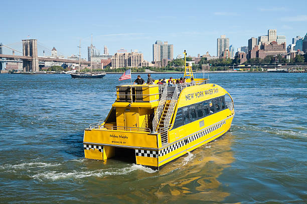 New York City, USA - Water Taxi stock photo