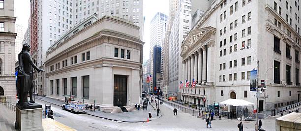 New York City Panorama der Wall Street – Foto