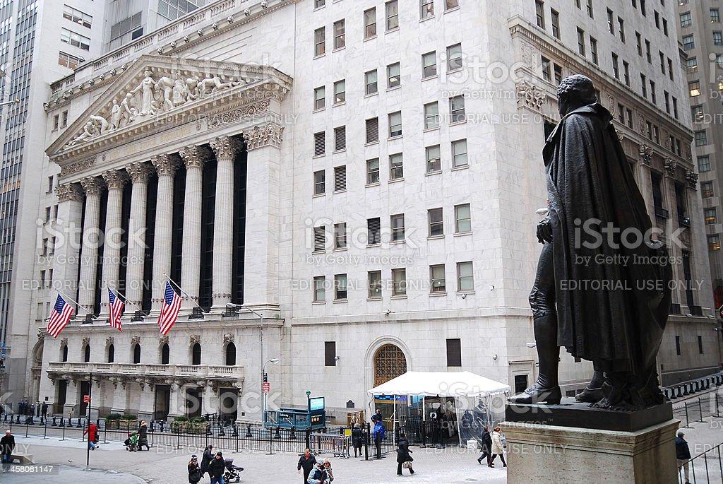 New York City Wall Street royalty-free stock photo