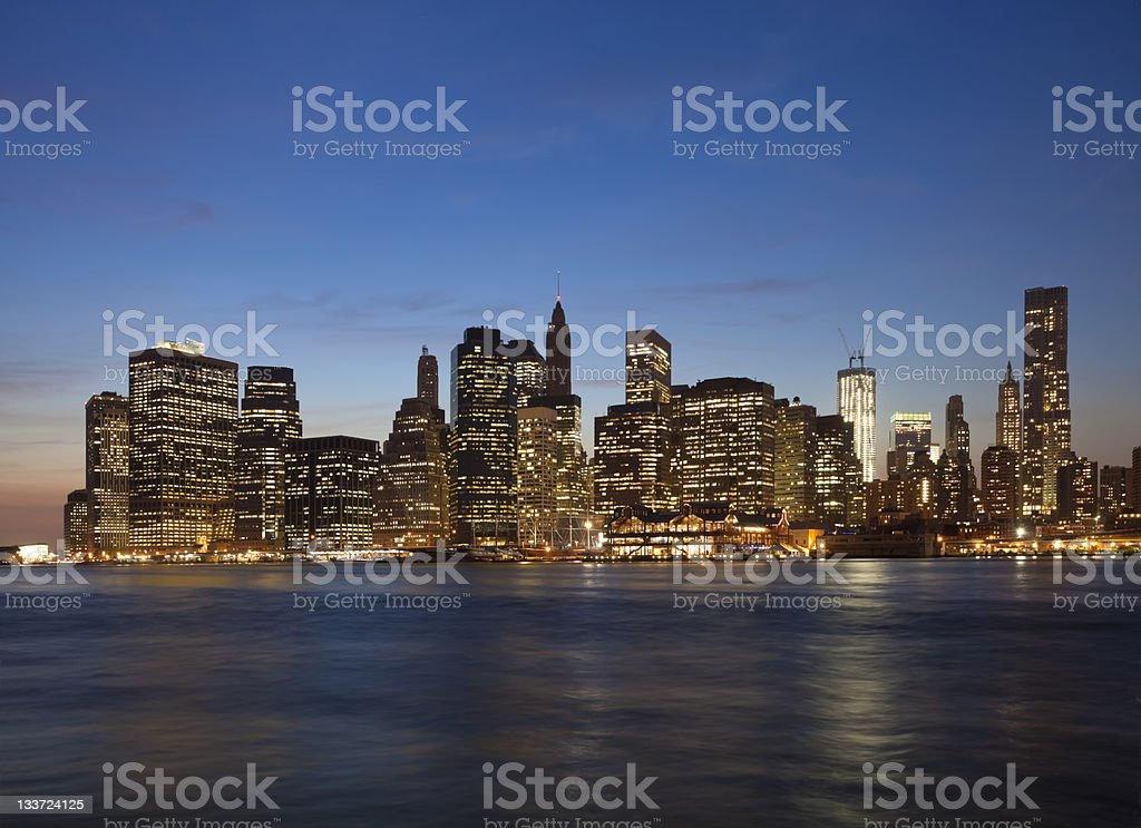 New York City with the Freedom tower royalty-free stock photo