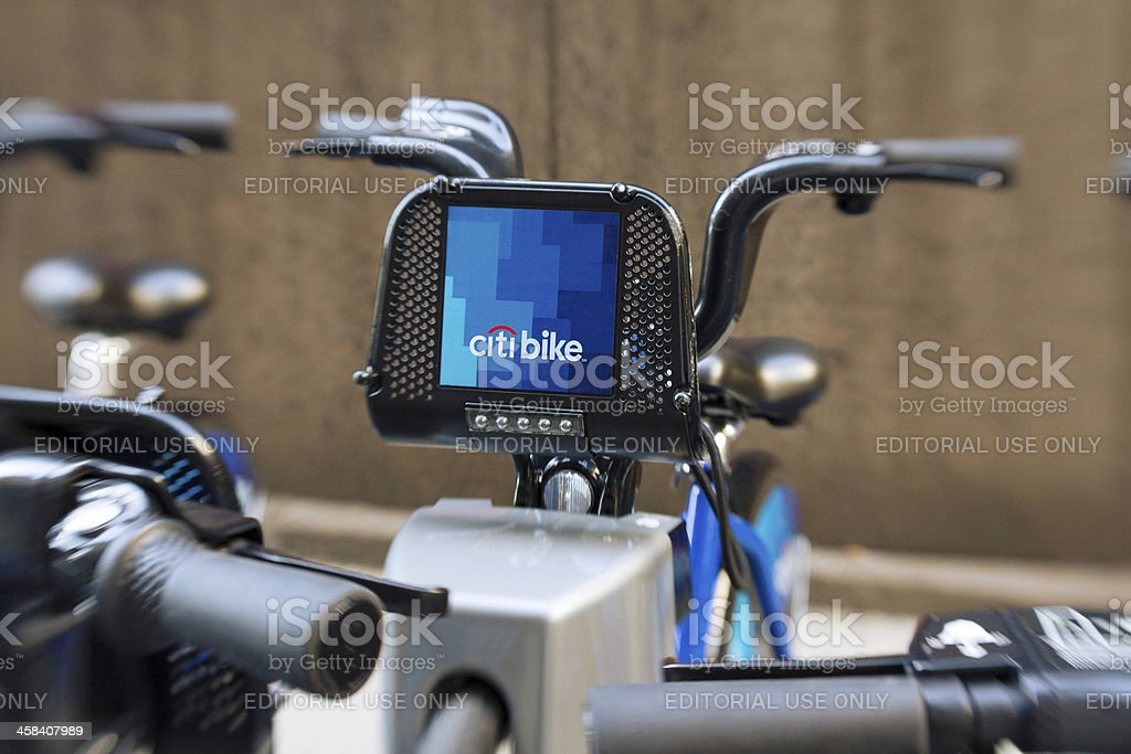 New York citybike station stock photo