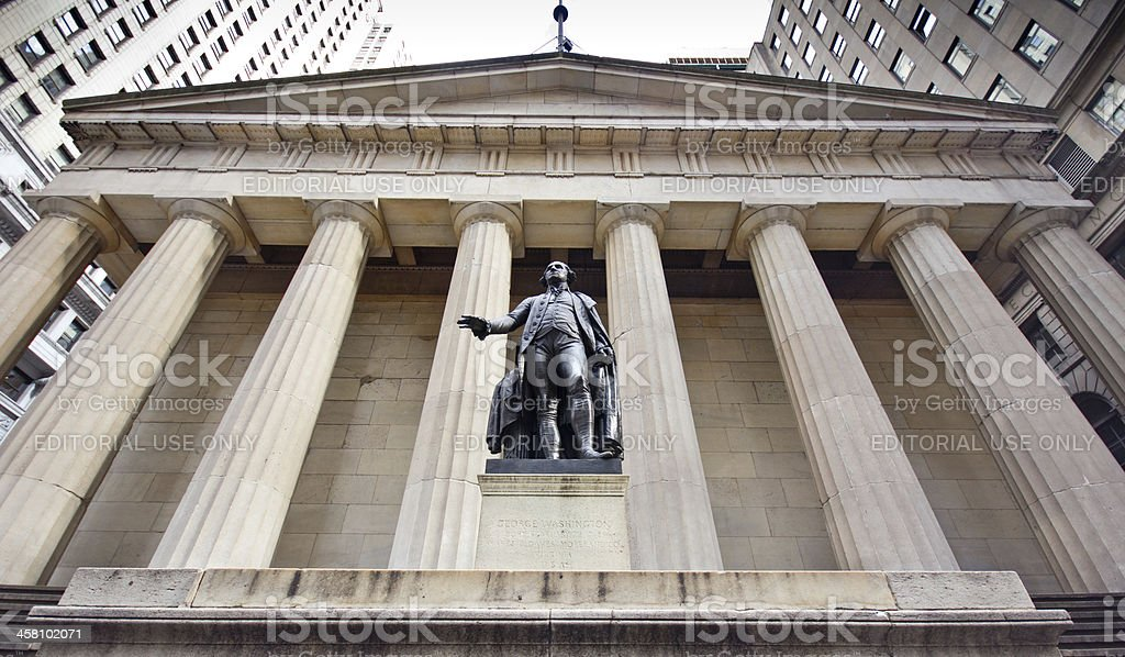 New York City's Federal Hall stock photo