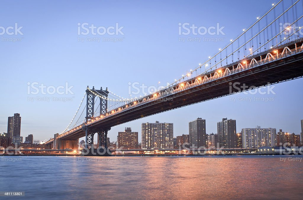 New York City's Manhattan Bridge royalty-free stock photo