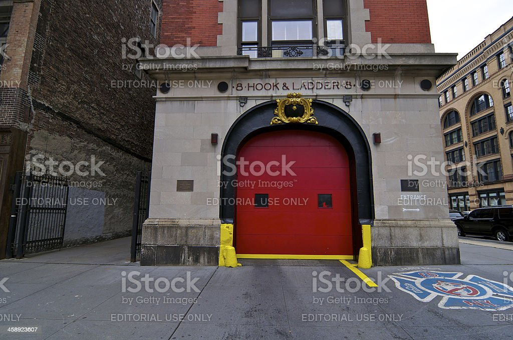 New York Cityscape, Ghostbusters Firehouse, Ladder 8, Lower Manhattan royalty-free stock photo