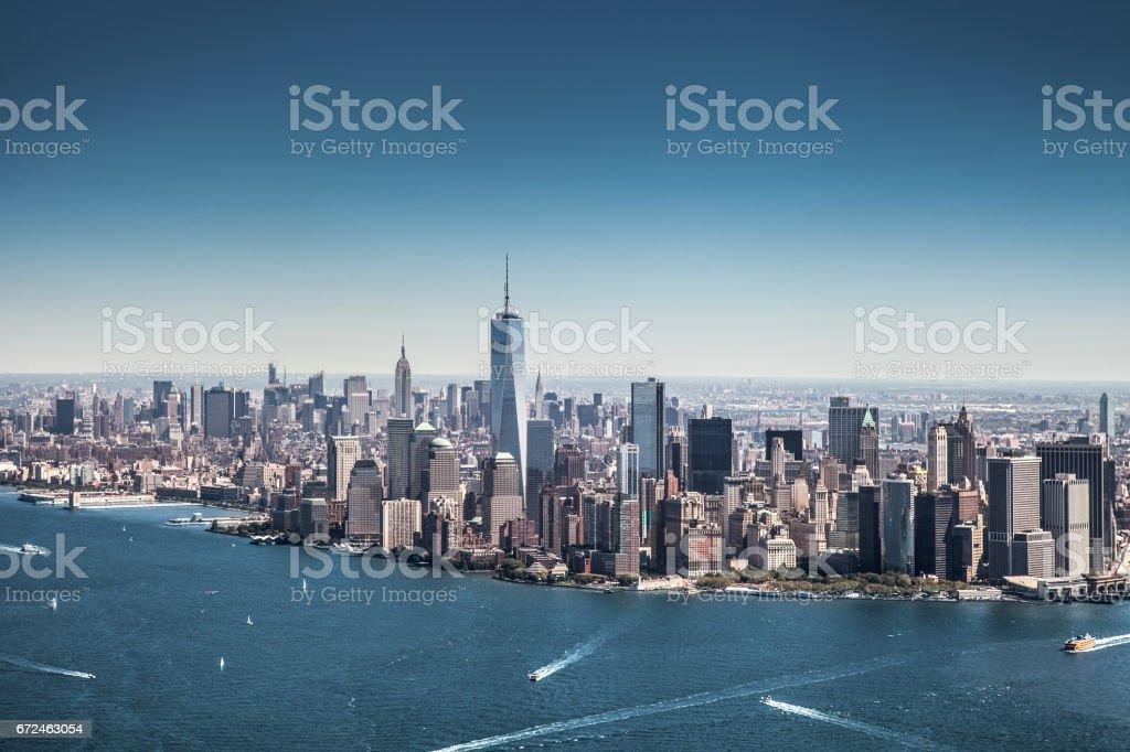 New York Cityscape, modern downtown skyline stock photo