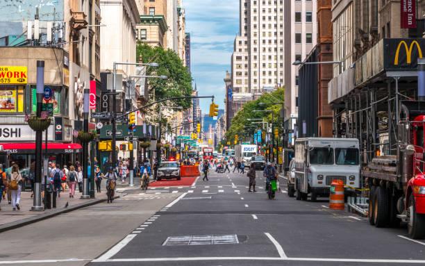 New York empty street stock photo