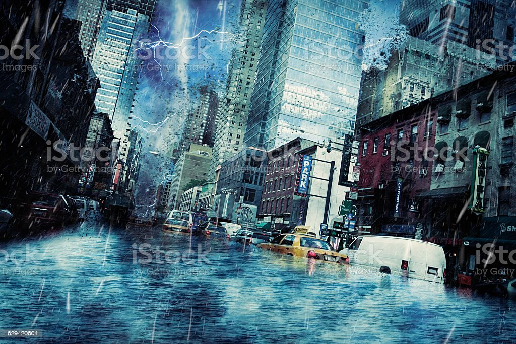 New York End of Days stock photo