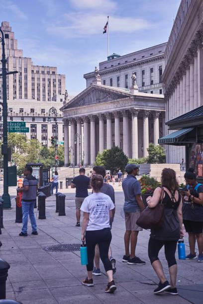 USA, New York, exterior view Court House stock photo