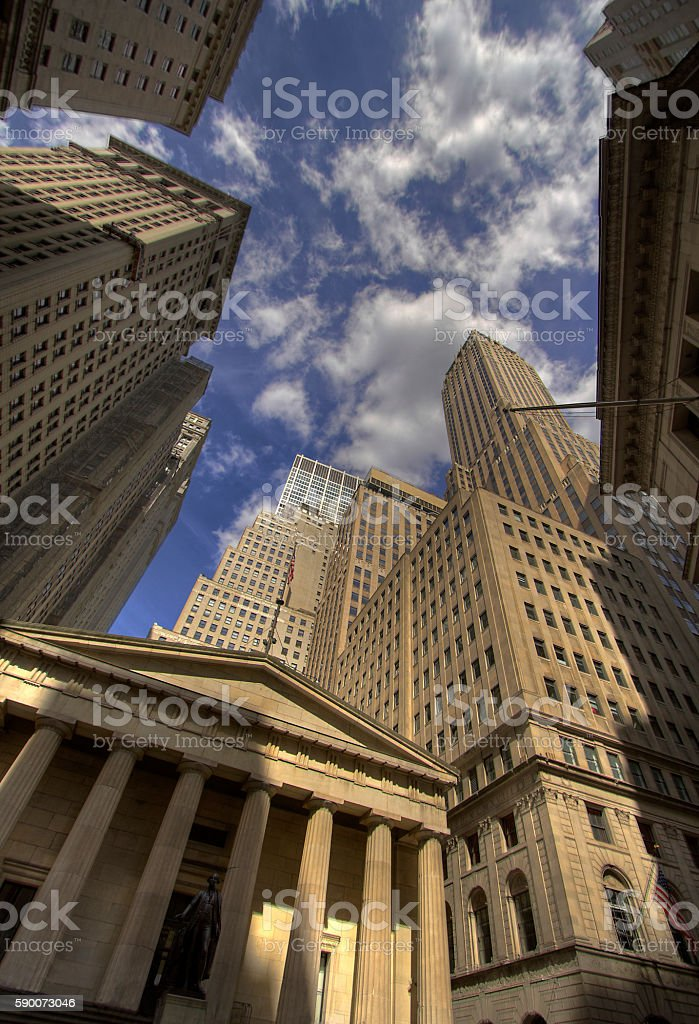 New York Financial District stock photo