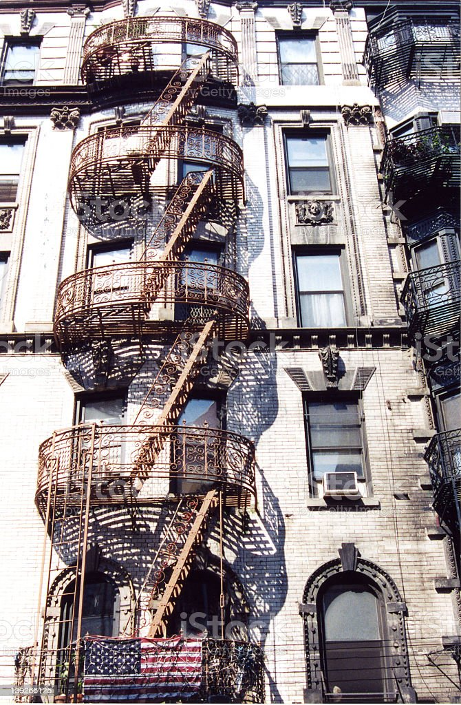 New York Fire Escape royalty-free stock photo