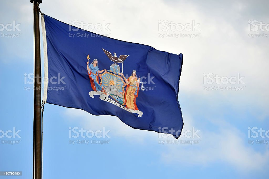 New York Flag stock photo