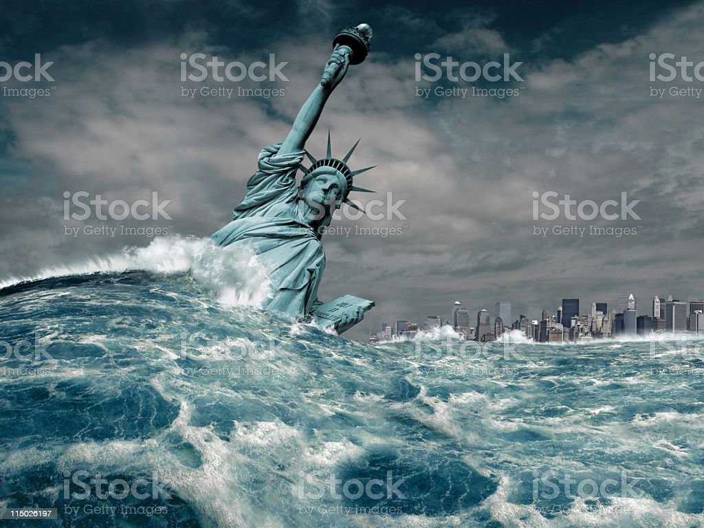 New York Flood Disaster royalty-free stock photo