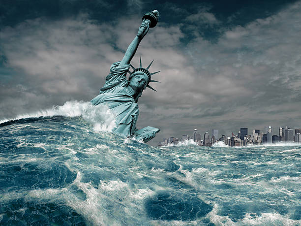new york flood disaster - apocalypse stock photos and pictures