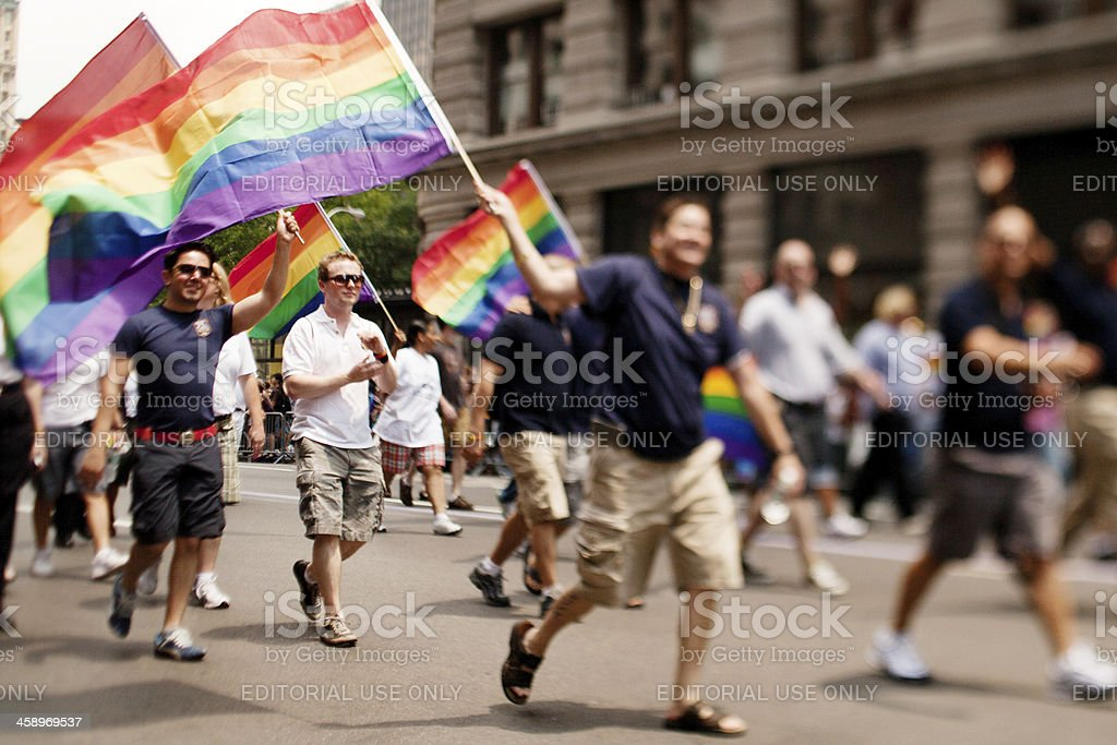 New York Gay Pride March royalty-free stock photo