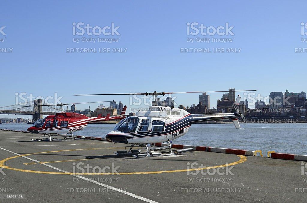 New York Heliport stock photo