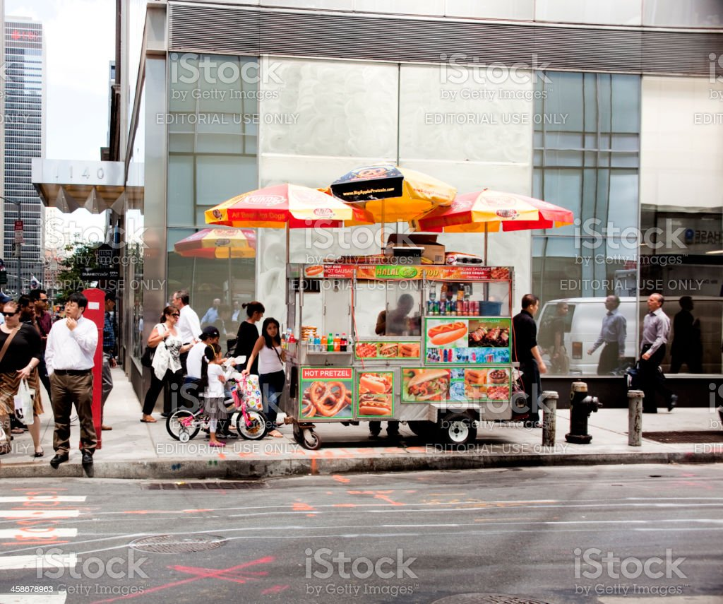 New York Hot Dog stand royalty-free stock photo