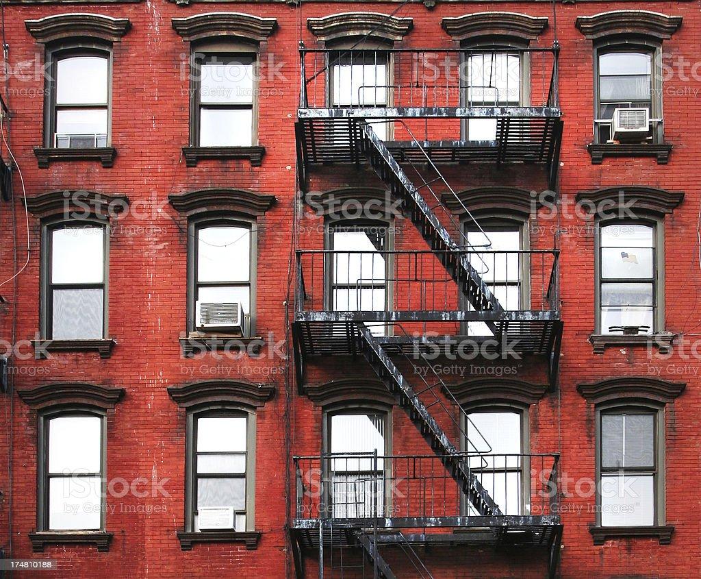 New York iconic red brick stock photo