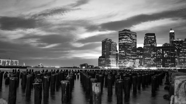 New York in Monochrome stock photo