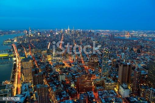 istock New York, Manhattan at Night, Aerial View 974279728