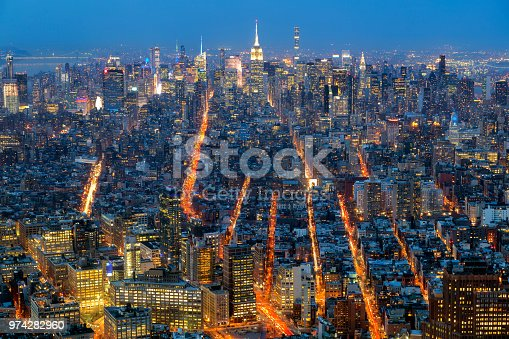 istock New York, Manhattan at Night, Aerial View 974282960
