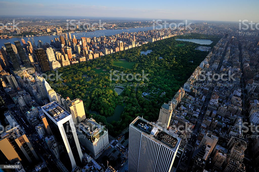 New York Manhattan at Sunrise - Central Park View stock photo
