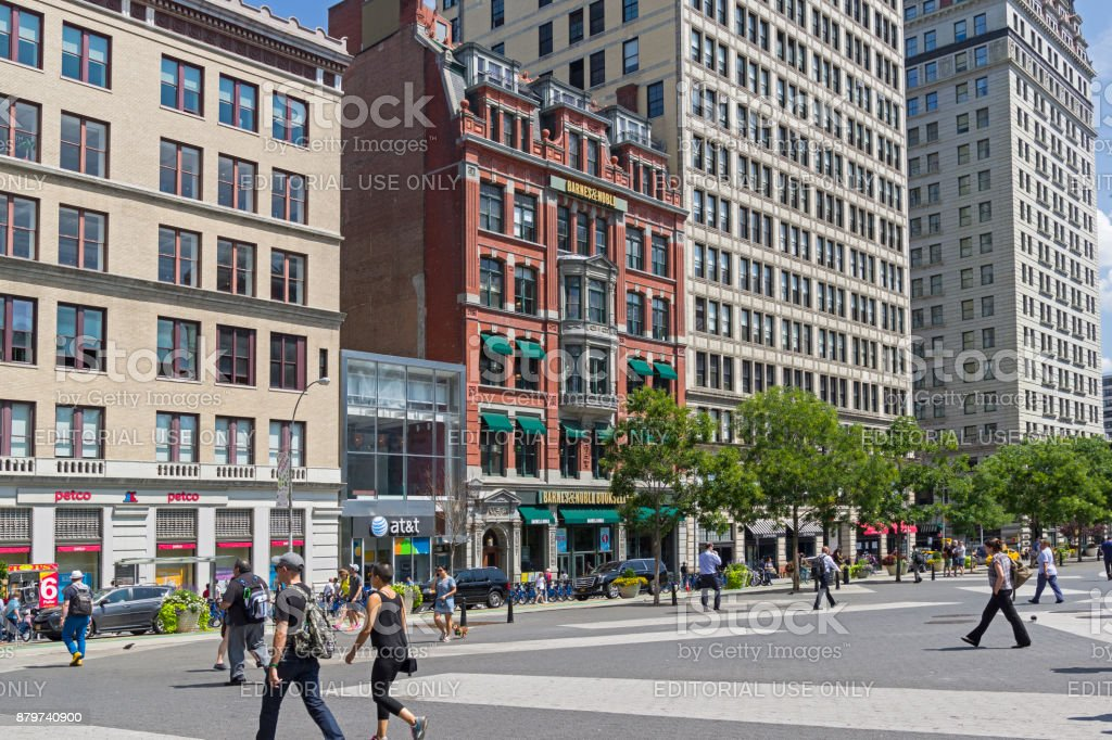 New York, Manhattan. Barnes & Noble bookstore on Union Square. stock photo