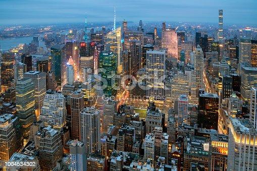 istock New York, Manhattan, Skyline at Dusk 1004534302